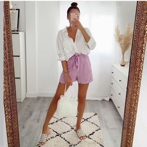 Belted Baggy Shorts Size XS NWT